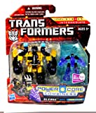 Hasbro Year 2010 Transformers Power Core Combiners Series 4-1/2 Inch Tall Robot Action Figure Set - Decepticon SLEDGE (Vehicle Mode: Backhoe) with Mini-Con THROTTLER