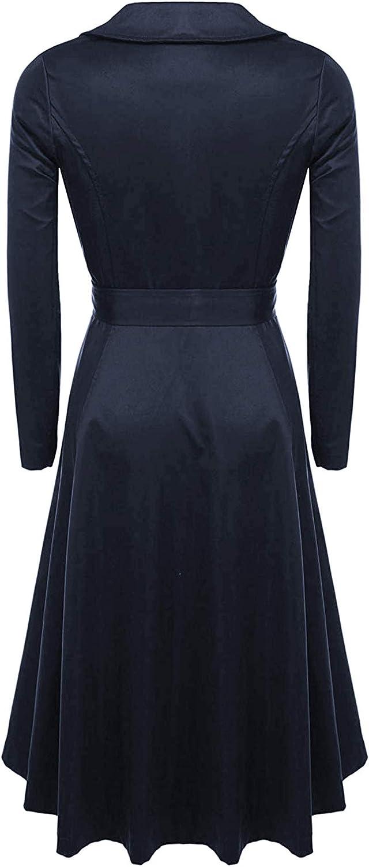 Zeagoo Damen formal fashion layered-weste-weste-kleid-weste mittel grau marineblau
