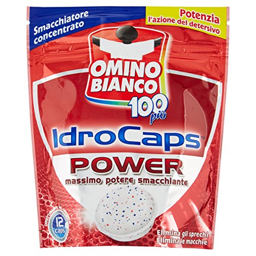 Omino Bianco - Additivo Totale 5in1 IdroCaps Power - Smacchiatore Concentrato - 12capsule - 240g