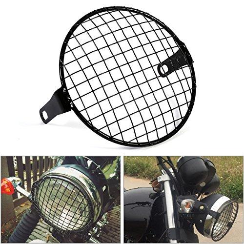 Natgic - Griglia universale per faro delle moto, in metallo, da 17,8 cm, montaggio laterale con viti da 8 mm a 10 mm