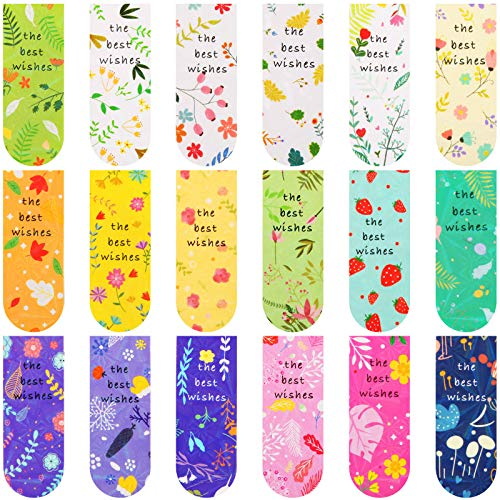 18 Pieces Magnetic Bookmarks Flower Magnet Page Markers Floral Assorted Book Markers Set for Students Office Reading Stationery