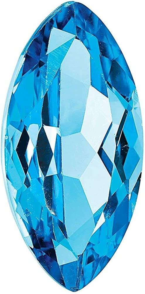 Jewelry-BLUE TOPAZ 4X2MM Cheap mail Online limited product order shopping QUALITY AA MARQUISE
