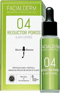 Facialderm - Sérum Booster 04 REDUCTOR POROS & Antiestrés Facial, 30 ml | Serum Reductor de Poros Matificante