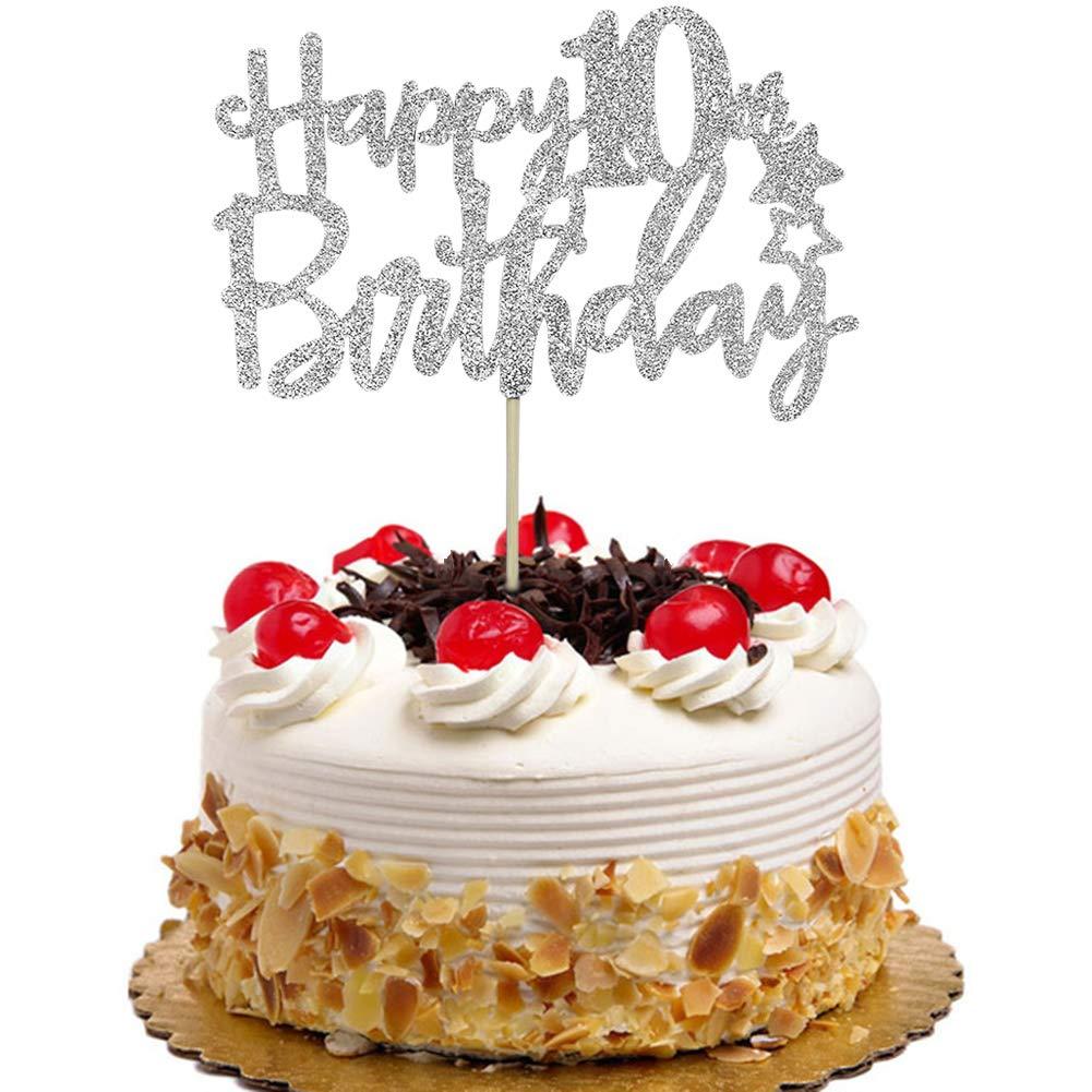 Superb Happy 10Th Birthday Cake Topper Hello 10 Cheers To 10 Years Funny Birthday Cards Online Inifodamsfinfo