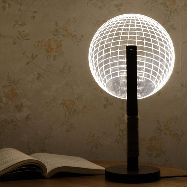 H&M Schreibtischlampe Nachttischlampe Ambiente Lampe studieren Schreibtischlampe Dimmer Control Helligkeitsebenen Augenpflege Wohnzimmer Schlafzimmer Runde 3D Acryl Massivholz Tischlampe