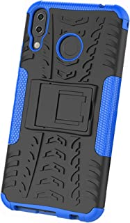 XINFENGDI Asus ZenFone 5Z ZS620KL Case,TPU+PU Shock-Absorbing Scratch-Resistant Back Cover with Air Cushion Technology,Anti-Slip Phone Cover for Asus ZenFone 5Z ZS620KL - Blue
