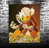 Puzzle 1000 piezas Dr. Duck inspeccionando cuadro dorado puzzle 1000 piezas educa Juegos familiares para adultos divertidos para niños Rompecabezas de juguete de descompresión50x75cm(20x30inch)
