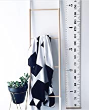 Comfysail Portable Roll-Up Children'S Height Measure Chart Durable Canvas Ruler Photo Height Chart Great for Measures from Birth to Adult,200 x 20cm