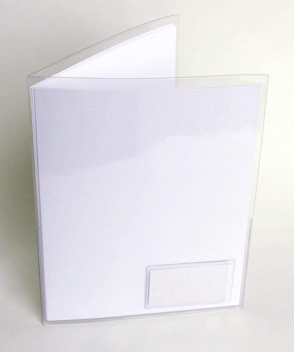 StoreSMART - Clear Plastic Folder 2 Pockets Business Translated with security