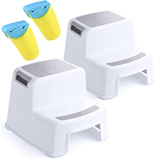 ACKO 2 Step Stool for Kids - Childrens,Toddler Stool with Slip Resistant Soft Grip for Safety as Bathroom Toilet Potty Tra...