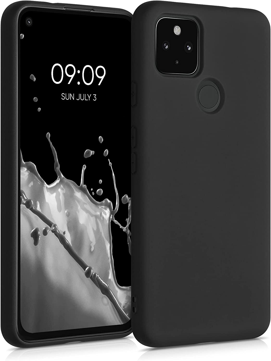 kwmobile Case Compatible with Google Pixel 4a 5G - Case Soft TPU Slim Protective Cover for Phone - Black Matte