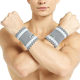 Neotech Care Wrist Band (1 Pair) - Bamboo Fiber Knitted Fabric - Light, Elastic & Breathable - Men, Women, Right or Left -...