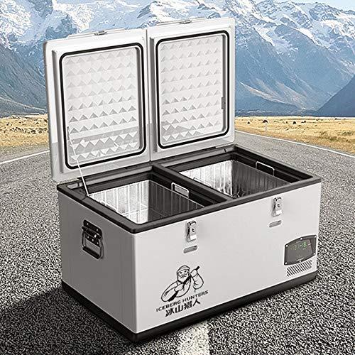 GAOXIAOMEI Refrigerador portátil de 68 Cuartos con compresor, AC 220V / DC 12 / 24V Mini frigorífico congelador para automóvil, hogar, Camping, RV -4 ° F a 50 ° F, con Cable de CA