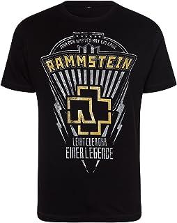 Rammstein Herren T-Shirt Legende Offizielles Band Merchandise Fan Shirt schwarz mit mehrfarbigem Front Print