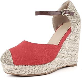 90ff034b70 DecoStain Women's Causal Platform Wedges Espadrille Ankle Strap Heeled  Sandals