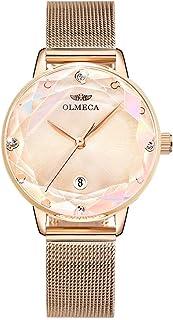 OLMECA Women's Watches Fashion Simple Watches Ultra Thin Wristwatches Waterproof Quartz Women Watches Chronograph Watch fo...