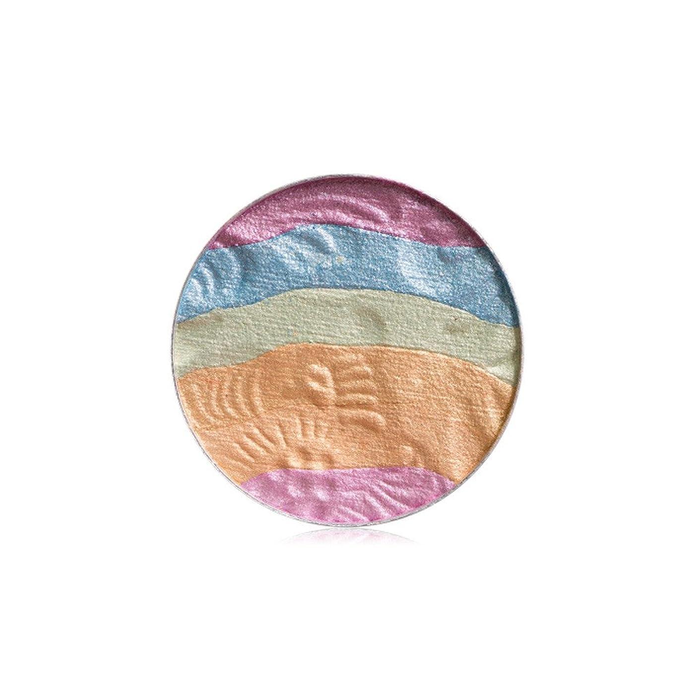 アヒル放射性バンドル自然な専門のアイシャドウの粉の虹のきらめきの構造の美の影