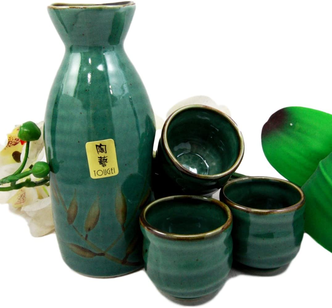 Atlantic Collectibles Japanese 12oz High material Wetlands Cheap SALE Start Ceramic Green Reed
