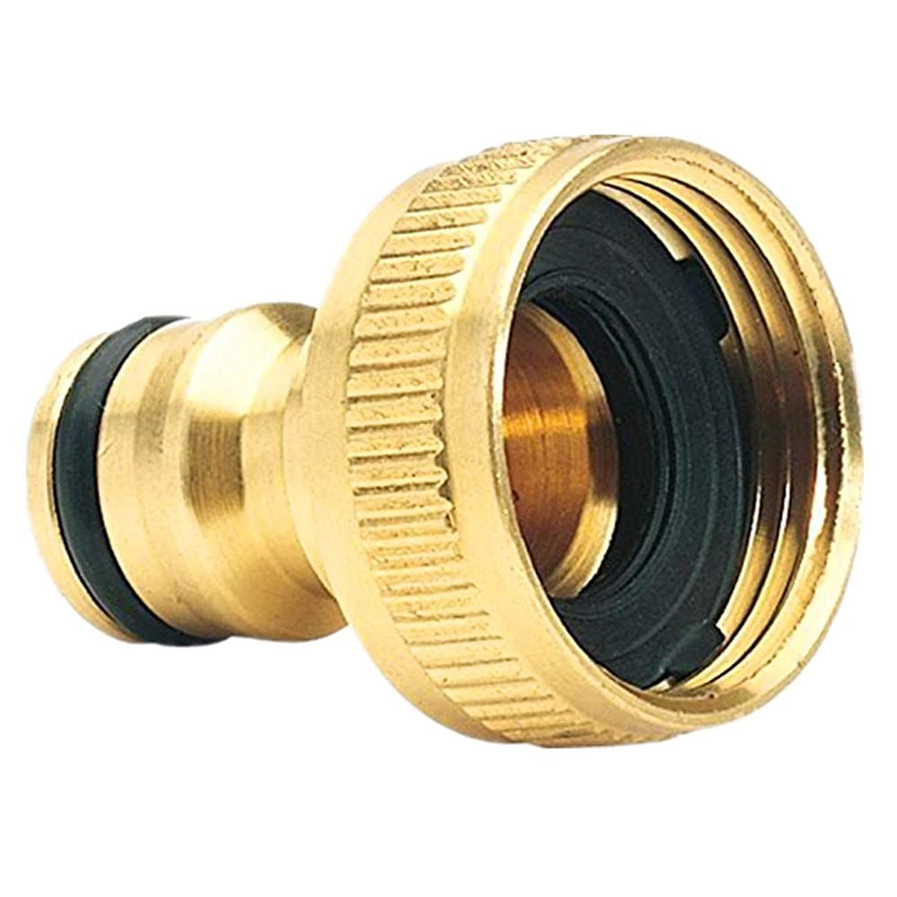 ? Yu2d ???? ?Brass Garden Hose Tap Connector (3/4) Quick Hose Adaptor Accessories hudmq694753