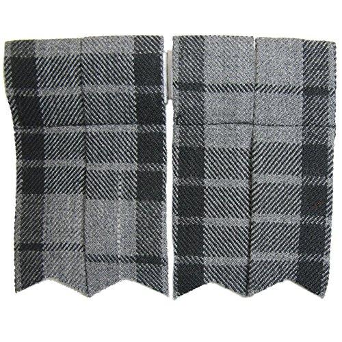 Tartanista - Flashes de kilt - homme - uni/motif tartan/plaid - gris granite - Mollet max. 43 cm (17\