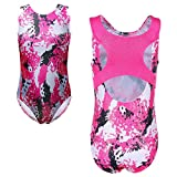 TFJH E Gymnastic Leotards for Girls Dancing Ballet Dancewear 5t 6t,HotPink 6A