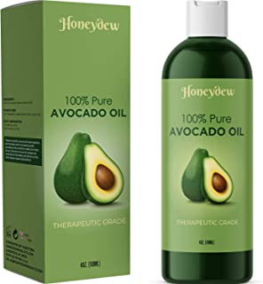 Avocado Oil For Hair Skin Nails Cold Pressed Antioxidant Nutrient Rich Oil Great as Massage Oil Anti-Aging Anti-Wrinkle Sk...