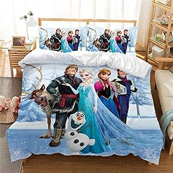Bed Sheets Bed Set Bedding Sheets & Pillowcases New Anna Elsa Bedding Set Queen King Size Frozen Bed Set Children Girl Duvet Cover Home Textilescomforter Bedding Sets-1_150 200 cm