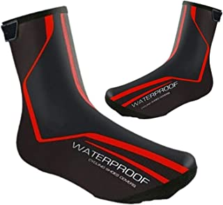 Waterproof Cycling Shoe Covers Winter Road Bike Overshoes Thermal Warm Shoes Cover for Men Women, MTB Bicycle Booties