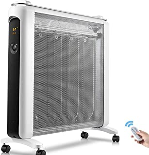 CHOME Radiador de Calentador eléctrico, Control electrónico de Temperatura Control Remoto Inteligente de 12 Horas, radiador eléctrico de Ahorro de energía para el hogar