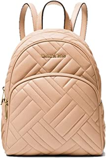 Abbey Medium Quilted Leather Backpack - Oyster
