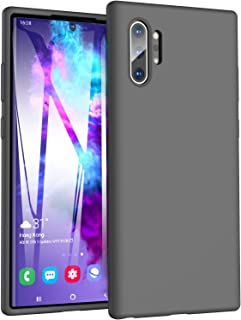 TOZO for Samsung Galaxy Note 10 Plus Case (2019) Liquid Silicone Gel Rubber Shockproof Shell Ultra-Thin [Slim Fit] Soft 4 Side Full Protection Cover for Samsung Galaxy Note 10+5G[Gray]