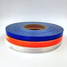 GEM TAPE White/Blue/Orange Heavy Duty Waterproof Pinstripping Reflective Tape for Car,Bike,Motorcycle Decoration and Safety (White, 1inx30ft)
