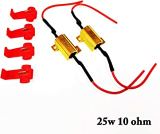 SOCAL-LED 2pcs LED Load Resistors 25W 10ohm LED Bulbs Turn Signal Error/Blinker/Hyper Flashing