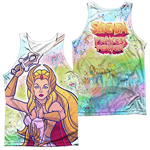 Masters of the Universe She Ra Title (Front/Back Print) Adult Tank Top White MD