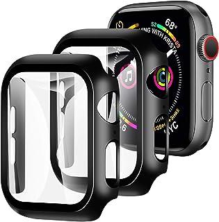 【2枚セット】YOFITAR Apple Watch 用ケース 42mm アップルウォッチ保護ケース ガラスフィルム 一体型 series3 series2 series1全面保護 超薄型 装着簡単 耐衝撃 高透過率 指紋防止 ブラック