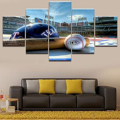 tomamos a los clientes como nuestro dios KEOA Lienzo HD HD HD Imprimir 5 Unidades Pintura Cuadros Marco Modular Arte de La Parojo Casco De Béisbol Y Béisbol Deporte Pintura para La Decoración Casera,B,20×30×220×40x220x50×1  más orden