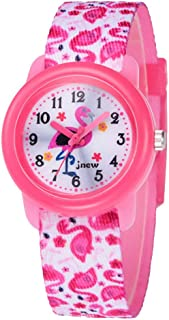 Hemobllo Kids Quartz Watch - Cartoon Printing Watch Canvas Watch Waterproof Wrist Watch for Kids Girls Students