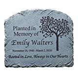 HONOR THEIR MEMORY: This memorial garden marker is as a beautiful way to remember a loved one after planting a tree in their honor. This thoughtful sympathy gift will remind you of love that will forever be rooted in your heart. UNIQUELY PERSONALIZED...
