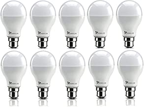 Syska PAG SRL Base B22 9-Watt LED Bulb (Pack of 10, Cool White)