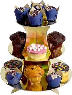 Alsino Muffinstandaard 3 verdiepingen cupcake-standaard taart deco gebakstandaard etages serveerschaal buffet muffins trap...