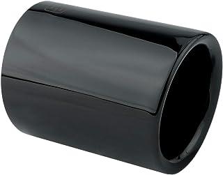 L&P A305 1 Auspuffblende Edelstahl 76mm Schwarz poliert Black Chrom Plug&Play Endrohrblenden Endrohrblende Auspuff Blende Endrohre Vergleichsnummern 18307622764 7622764 18307622762 7622762