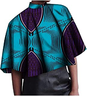 Comaba Women's Blouse Baggy Style Dashiki Floral African Plus Size Tees