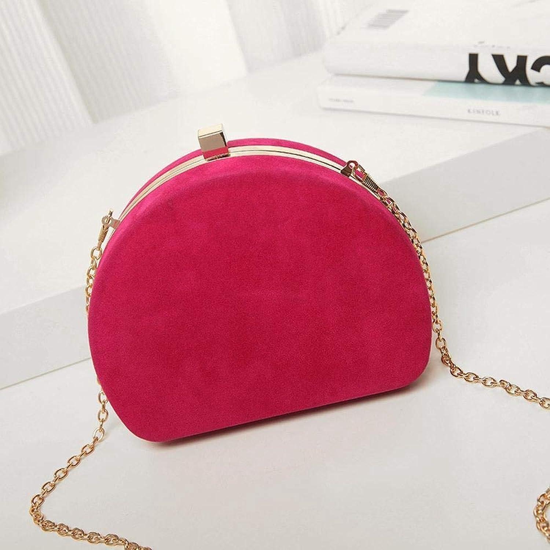 Girls Purse Women's Wallet,Chain Bag Abrasive Shoulder Bag PU Leather (color   D)