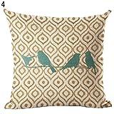 strimusimak Cute Bird Pattern - Funda de cojín Decorativa, diseño de pájaros