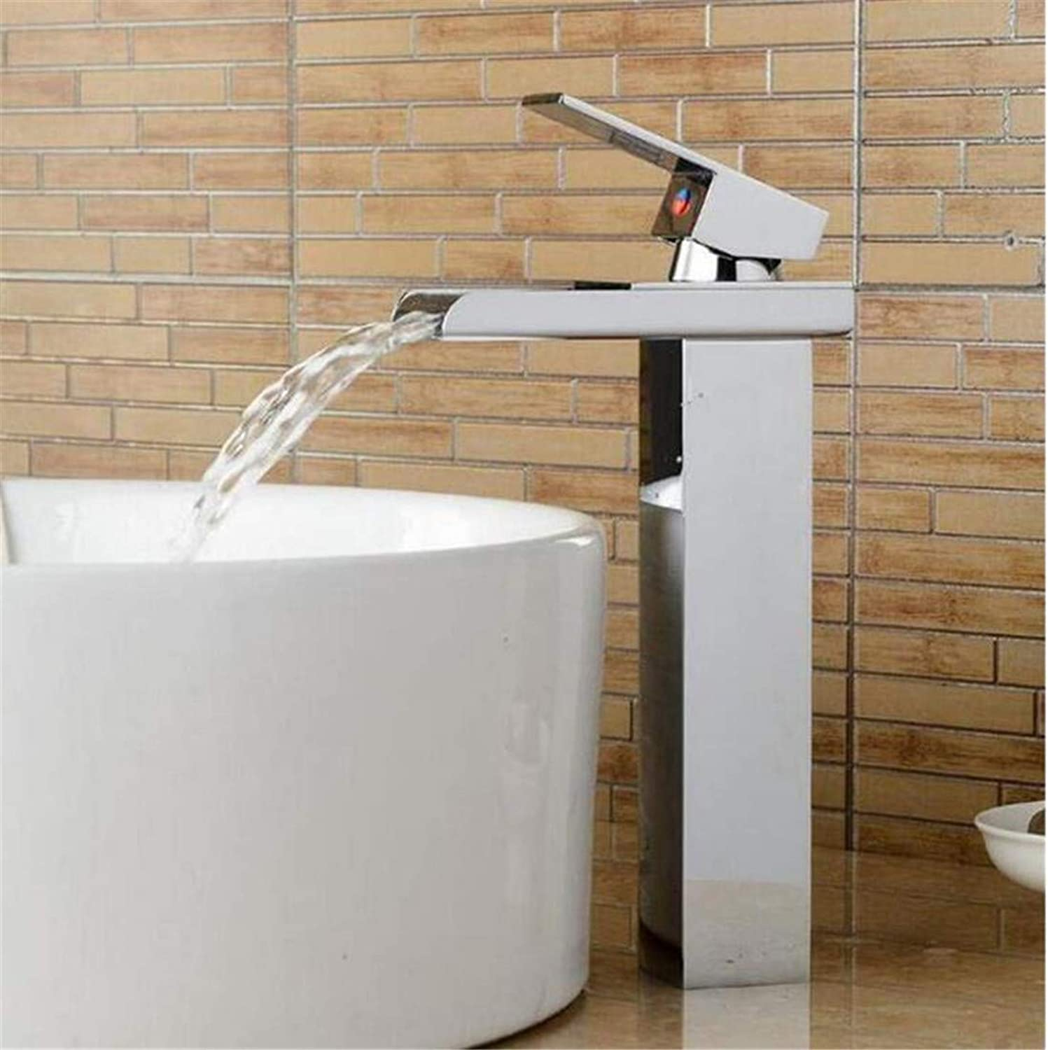 Faucet Modern Luxury Full Copper 360° redating Faucetsink Faucet Bathroom Sink Faucet Waterfall Crane Mixer Water Tap