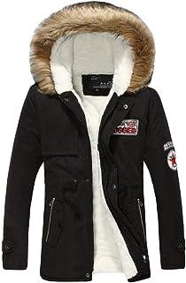 Targogo Cappotto Invernale Misto in Misto Cashmere di Cotone da Abbigliamento Uomo Vintage Cappotto Invernale Medio Lungo ...