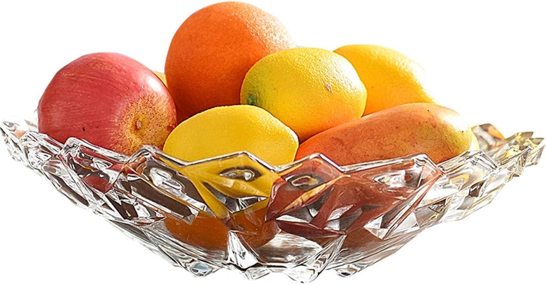 HYBKY Bol De Fruits Verre De Comptoir Bol De Fruits, Matériau En Verre Sans Plomb Bord Lisse Et portable, Salon à La Maison Bol de fruits