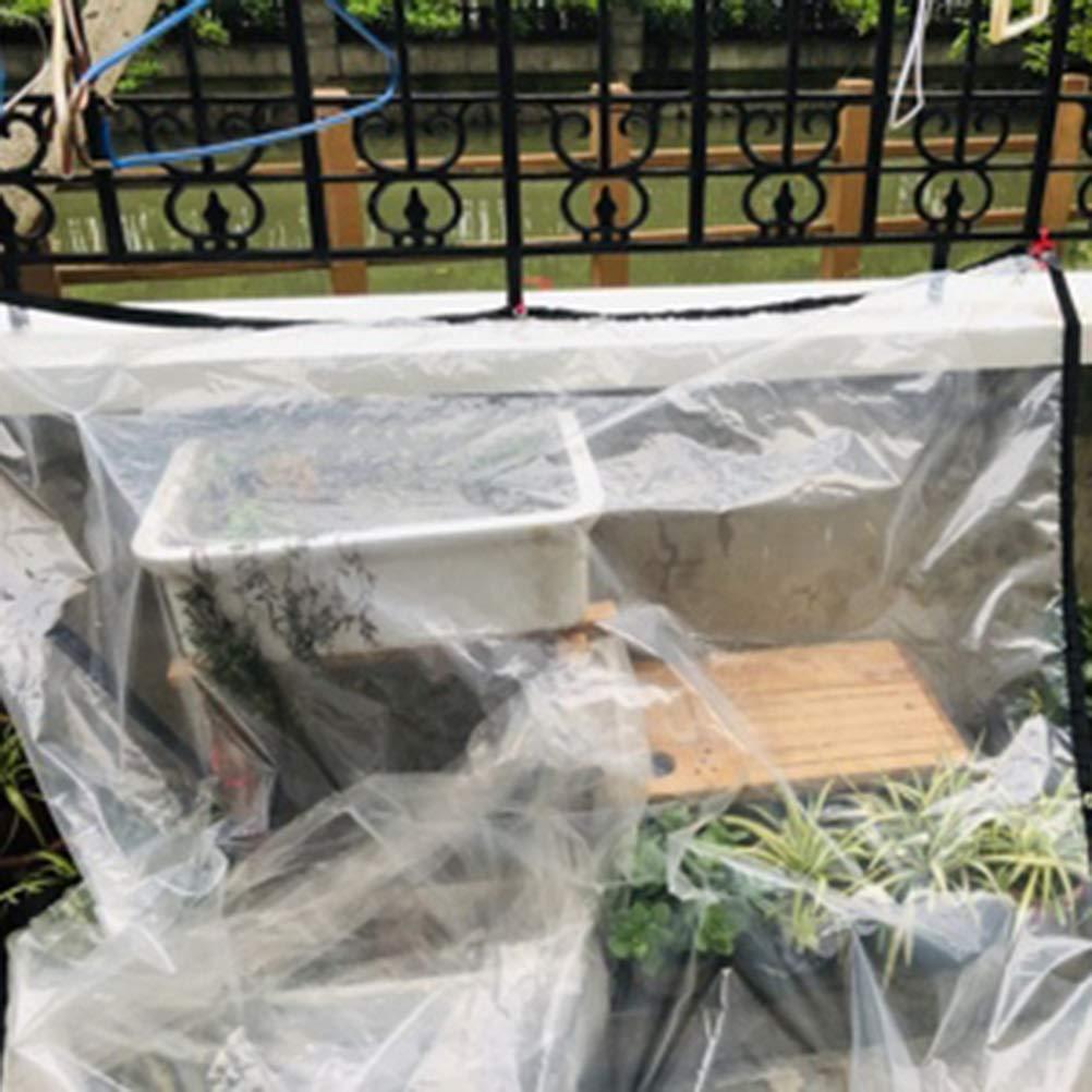 Transparente Espesar Impermeable Lona de plástico Paño al Aire Libre Balcón Ventana Jardinería Suculentas A Prueba de Lluvia Paño de Aislamiento LIUDINGDING (Color : Transparent, Size : 3x6m): Amazon.es: Hogar