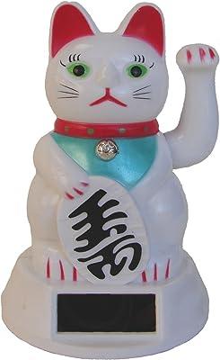 Amazon.com: Feng Shui importación LLC blanco dinero gato en ...