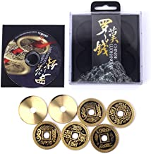 Enjoyer Coin Magic-Chinese LuohanQian Deluxe Chinese Ancient Coin Set Magic Tricks Appearing/Vanishing Close Up Magic Gimmick Magician Accessories (Half Dollar Size 30MM)